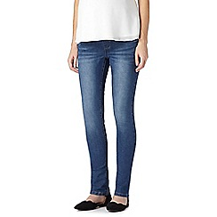 Red Herring Maternity - Blue skinny maternity jeans