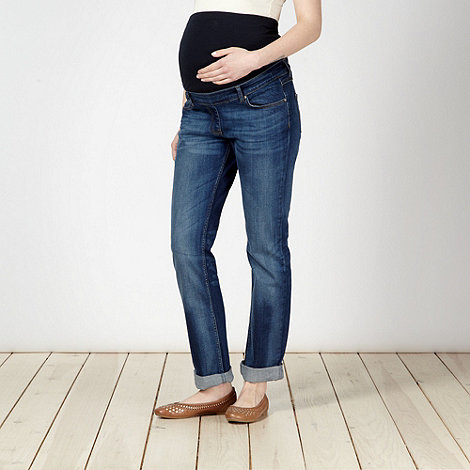 Mantaray Maternity - Blue boyfriend style maternity jeans