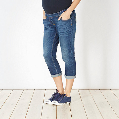 Mantaray Maternity - Blue cropped maternity jeans