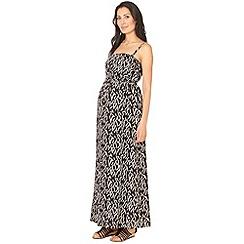 Red Herring Maternity - Black tribal maternity maxi dress