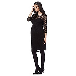 Red Herring Maternity - Black lace maternity dress