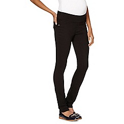 Red Herring Maternity - Black under-over the bump maternity jeggings