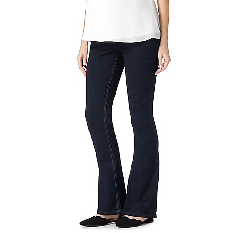 Red Herring Maternity - Dark blue maternity bootcut jeans