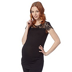 Red Herring Maternity - Black lace jersey top