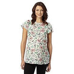Red Herring Maternity - Pale pink butterfly and floral print maternity top