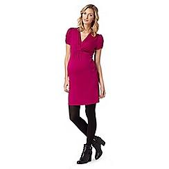 Red Herring Maternity - Dark pink jersey nursing dress