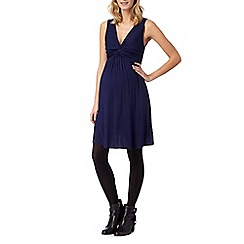 Red Herring Maternity - Navy knot front jersey maternity dress