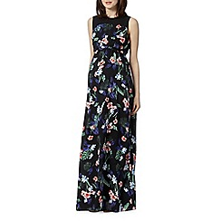 Red Herring Maternity - Black hibiscus maternity maxi dress