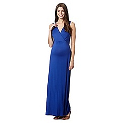 Red Herring Maternity - Blue maternity self tie belt dress