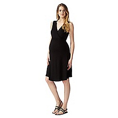 Red Herring Maternity - Black wrap maternity dress