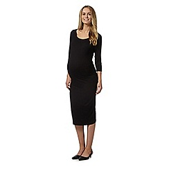 Red Herring Maternity - Black bodycon three quarter sleeved maternity dress
