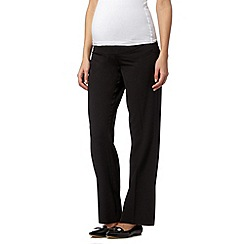 Red Herring Maternity - Black button belt maternity trousers