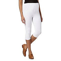 Red Herring Maternity - White cropped maternity leggings