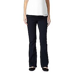 Red Herring Maternity - Dark blue below the bump bootcut maternity jeans