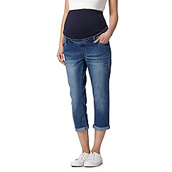 Red Herring Maternity - Blue cropped maternity jeans