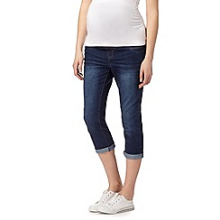 Red Herring Maternity - Blue denim maternity crop jeans