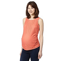 Red Herring Maternity - Peach lace front maternity vest