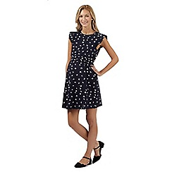 Red Herring Maternity - Navy butterfly pleated maternity dress
