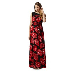 Red Herring Maternity - Red poppy print maxi maternity dress
