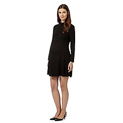 Red Herring Maternity - Black roll neck maternity dress