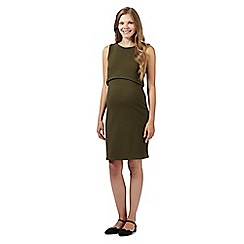 Red Herring Maternity - Khaki double layered jersey maternity dress