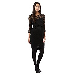 Red Herring Maternity - Black knee length lace dress