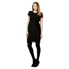 Red Herring Maternity - Black pleat maternity dress