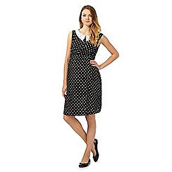 Red Herring - Black and white spotted fit and flare maternity dress
