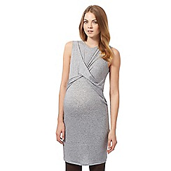 Red Herring Maternity - Grey sleeveless cross front dress
