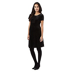 Red Herring Maternity - Black knee length velvet dress