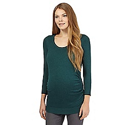 Red Herring Maternity - Green cable detail maternity jumper