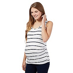 Red Herring Maternity - White striped maternity vest top
