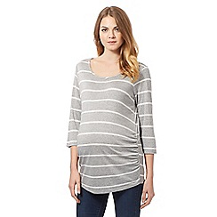 Red Herring Maternity - Grey striped scoop neck t-shirt