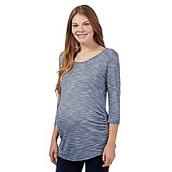 Red Herring Maternity - Navy marl scoop neck maternity top