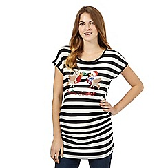 Red Herring Maternity - Black festive striped top