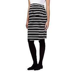 Red Herring Maternity - Black striped jersey skirt