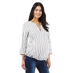 Red Herring Maternity - Ivory white striped blouse