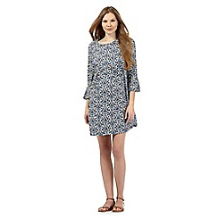 Red Herring Maternity - Navy print flute dress