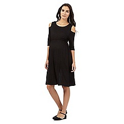 Red Herring Maternity - Black cold shoulder dress