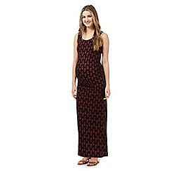 Red Herring Maternity - Black floral print maxi dress