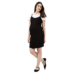 Red Herring Maternity - Black dress and white mock t-shirt set