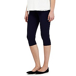 Red Herring Maternity - Navy cropped leggings