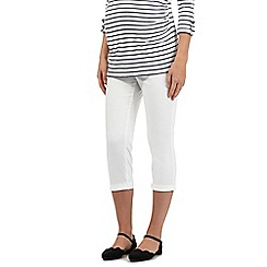 Red Herring Maternity - White cropped maternity trousers