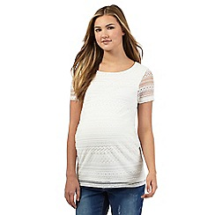Red Herring Maternity - Ivory lace maternity top
