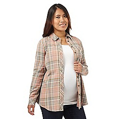 Red Herring Maternity - Pink checked print shirt