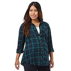 Red Herring Maternity - Dark green checked print shirt