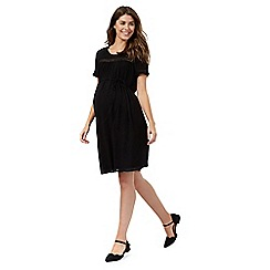 Red Herring Maternity - Black crinkle dress