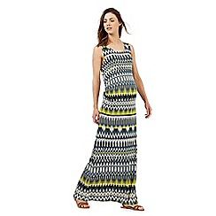 Red Herring Maternity - Grey Aztec print maxi dress