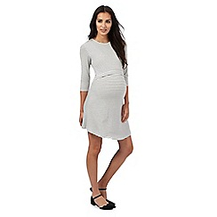 Red Herring Maternity - Cream striped print nursing dress
