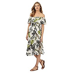 Red Herring Maternity - Off white floral print Bardot dress